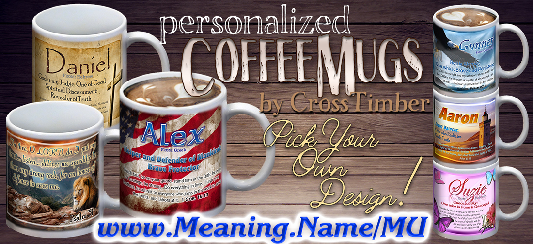 Namemugs Personalized Coffee Mugs With Name Meanings 24 Or Less