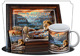 custom bible verse gifts: coffee mugs, framed art, bookmarks