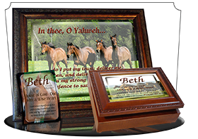 SG-MB-AN31, Custom Bible Verse on a Music Box, Bible Verse  horses, Psalm 31, freedom