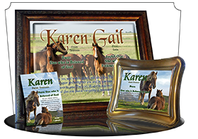 MU-AN44, Music Box with personalized name meaning & Bible verse,  karen horses mother mom child