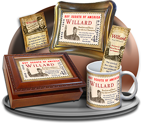 MU-CA02, Coffee Mug with Name Meaning and  Bible Verse willard  boy scouts stamp collecting