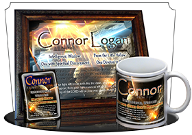 MU-CR01, Coffee Mug with Name Meaning and  Bible Verse, personalized, space asteroid connor