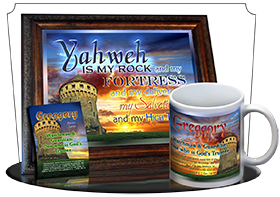 MU-SC02, Coffee Mug with Name Meaning and  Bible Verse, personalized, scenery castle keep greggory