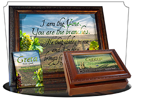 SG-PL-SC14, Custom Scripture Plaque,  Framed, Bible Verse, personalized,  rolling hills peace Italy, John 14:27