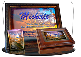 MU-SS05, Music Box with personalized name meaning & Bible verse, , personalized, blue purple sunset