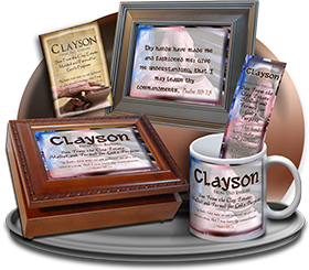 MU-SY17, Coffee Mug with Name Meaning and  Bible Verse, personalized, clayson potter potery clay