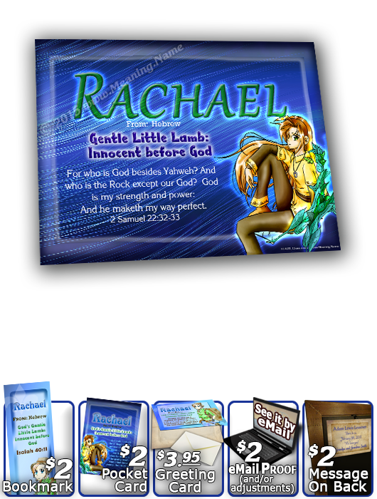 8x10-CH44, personalized 10x12 name meaning print, framed with  name meaning & Bible verse, , personalized, anime character rachael  A whimsical smile crosses the face of this mischievous girl as her pet lizard rests comfortably on her shoulder. She waits