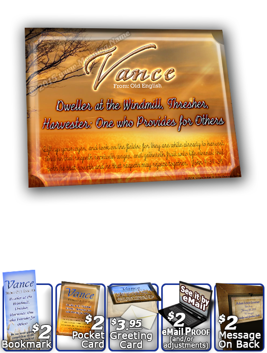 8x10-GR01, personalized 10x12 name meaning print, framed with  name meaning & Bible verse, , personalized, Vance grain field harvest  This multi-name plaque adds beautiful text effects to make the verse readable against the grain, the 3-D beveled meaning,