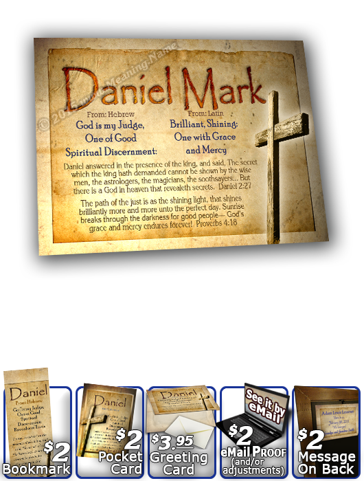 8x10-SY42, personalized 10x12 name meaning print, framed with  name meaning & Bible verse, , personalized, old rugged cross parchment daniel Jesus Yeshua