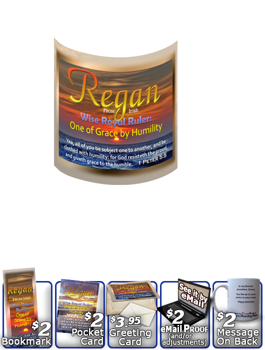 MU-SS06, Coffee Mug with Name Meaning and  Bible Verse, personalized, sunset sky sun regan