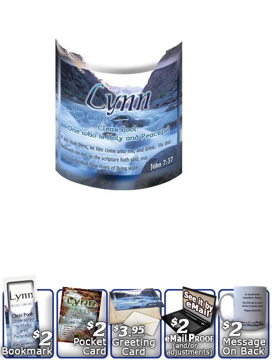 MU-WA04, Coffee Mug with Name Meaning and  Bible Verse, personalized, lynn soft water stream river water