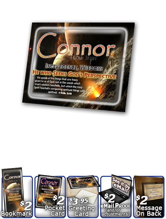 PL-CR01, Name Meaning Print,  Framed, Bible Verse, personalized, space asteroid connor