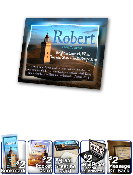 PL-LH14, Name Meaning Print,  Framed, Bible Verse, personalized, lighthouse light, ocean robert bob