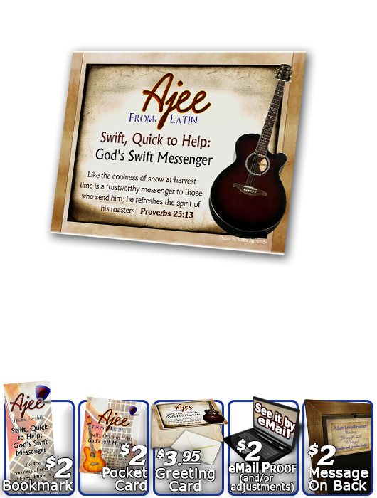 PL-MU19, Name Meaning Print,  Framed, Bible Verse, personalized, music notes ajee guitar acoustic