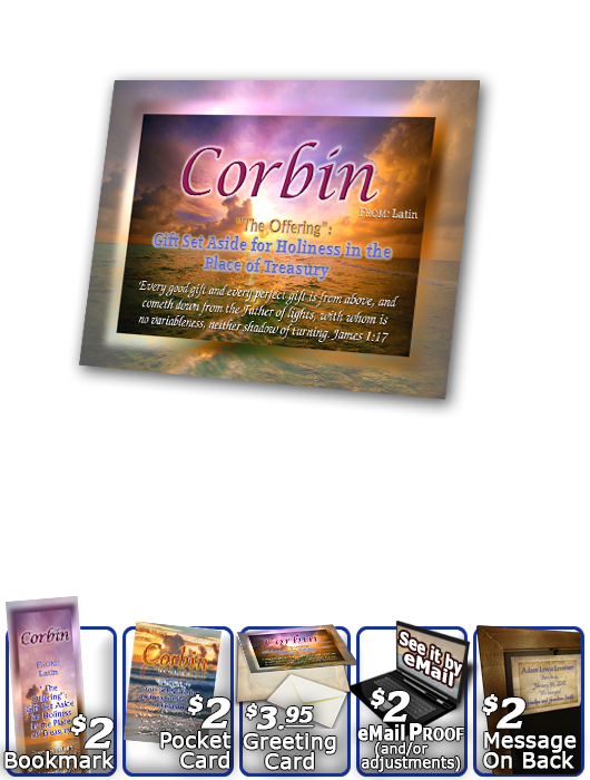 PL-SS02, Name Meaning Print,  Framed, Bible Verse, personalized, sunset purple, corbin