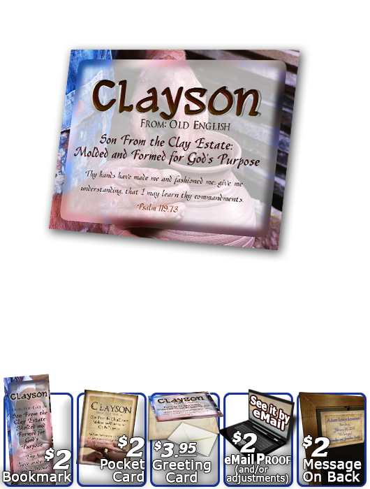 PL-SY17, Name Meaning Print,  Framed, Bible Verse, personalized, clayson potter potery clay