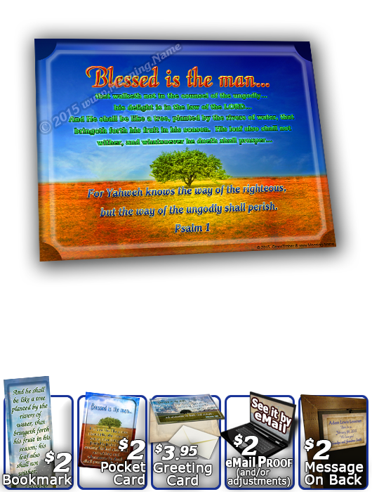 SG-8x10-TR10, Large 10x12 Plaque with Custom Bible Verse, personalized,  tree green, Psalm 1:3
