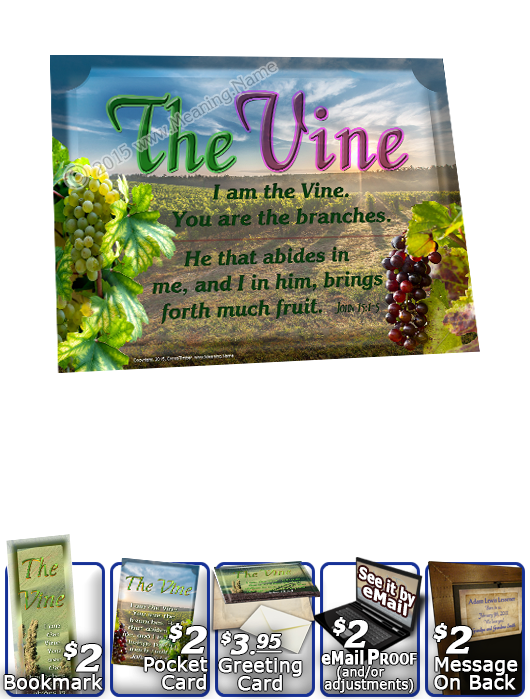 YH-8x10-SC14, Name of God, Framed Art and Bible Verse | The Vine