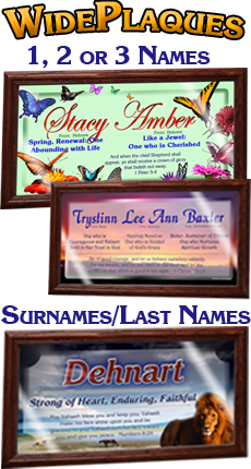 Name Meaning prints for 1, 2 or 3 names meanings, framed, personalized
