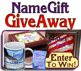 FREE Name Meaning Plaque Giveaway - Enter here