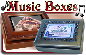 Personalized Music Boxes with name meanings, Bible verses