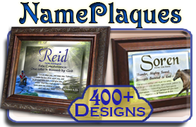 Name meaning plaques
