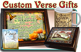 Custom Bible Verse Art, Music Boxes and Plaques