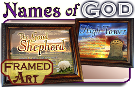 Names of God Framed Bible Verse Art